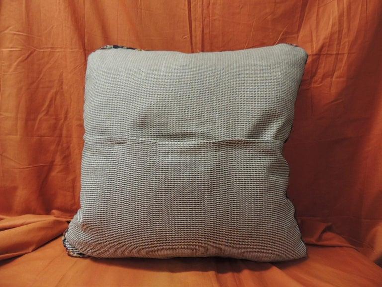 Vintage Large Cotton Velvet Floral Turkish Floor Pillow #1 In Good Condition For Sale In Fort Lauderdale, FL