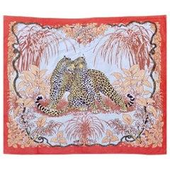 Vintage Large Hermès Jungle Love Beach Towel by Robert Dallet