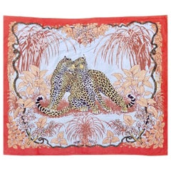 Vintage Large Hermès Jungle Love Beach Towel by Robert Dallet