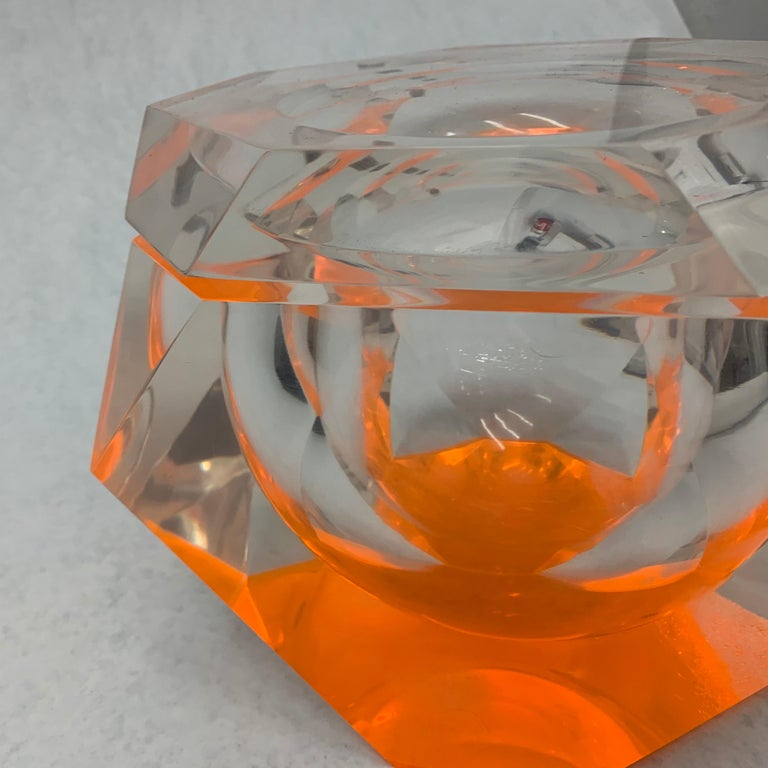 Vintage Large Lucite Ice Bucket by Alessandro Albrizzi For Sale 4