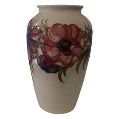 Vintage Large Moorcroft Pottery Luscious Anemone Flowers Vase Estate England