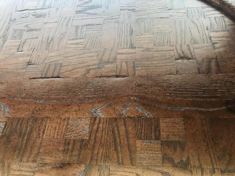 Vintage Large Oval Conference or Center Table in Oak For Sale 7