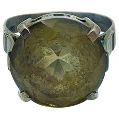 Vintage Large Pendant Silver Ring
