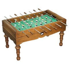 Vintage Large Professional Foosball Table Football Oak Frame Steel Players