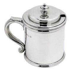 Vintage Large Sterling Silver Preserve Jar / Condiment Server / Jam Pot 1934