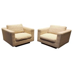 Vintage Late 1970s Large Dunbar Club Chairs a Pair