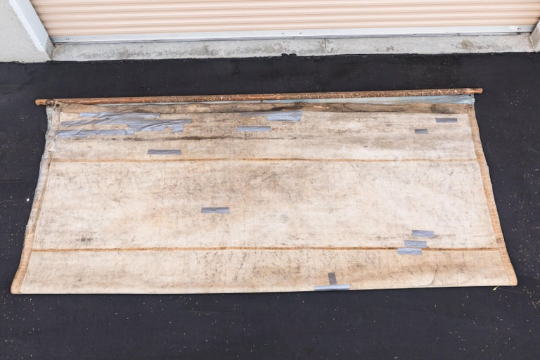 Vintage Late 19th Century Canvas Circus Carnival Midway Folk Art Sideshow Banner For Sale 6