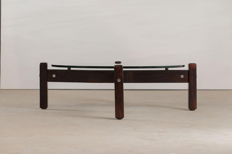 Latini coffee table, designed by Sergio Rodrigues Brazil in 1965.