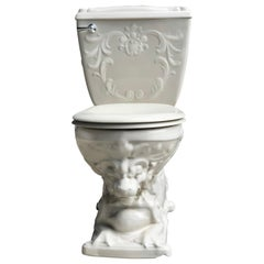Vintage Laufen Nautilus Regal Lion Porcelain Throne Toilet Water Closet, Cistern