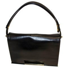 Vintage Launer Black Leather Bag