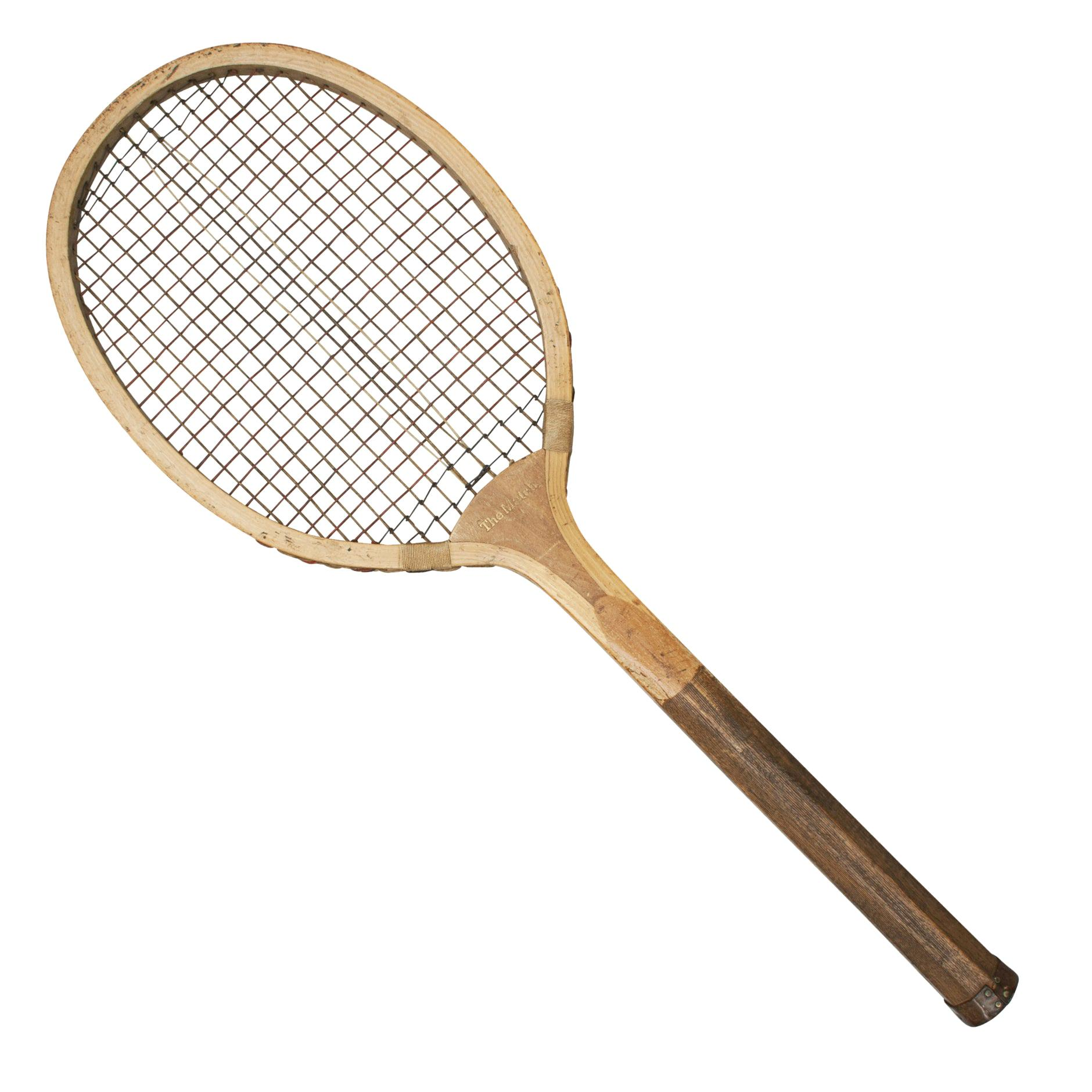 Vintage Lawn Tennis Racket, the Match