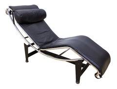 Vintage Le Corbusier Lc4 Style Chaise Lounge Chair