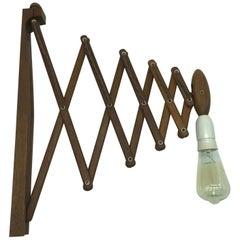 Vintage Scissor Lamp in Teak from the 1960s By Erik Hansen For Le Klint