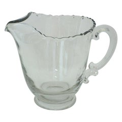 Vintage Leaded Glass Water Pitcher