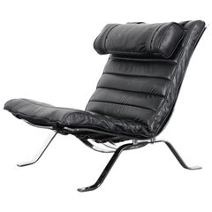 "Vintage Leather ""Ari"" Lounge Chair by Arne Norell"