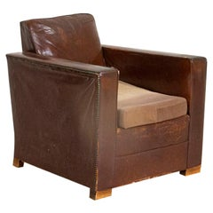 Vintage Leather Armchair from Denmark