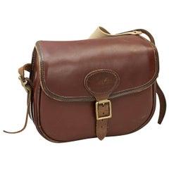 Vintage Leather Cartridge Bag by Parsons