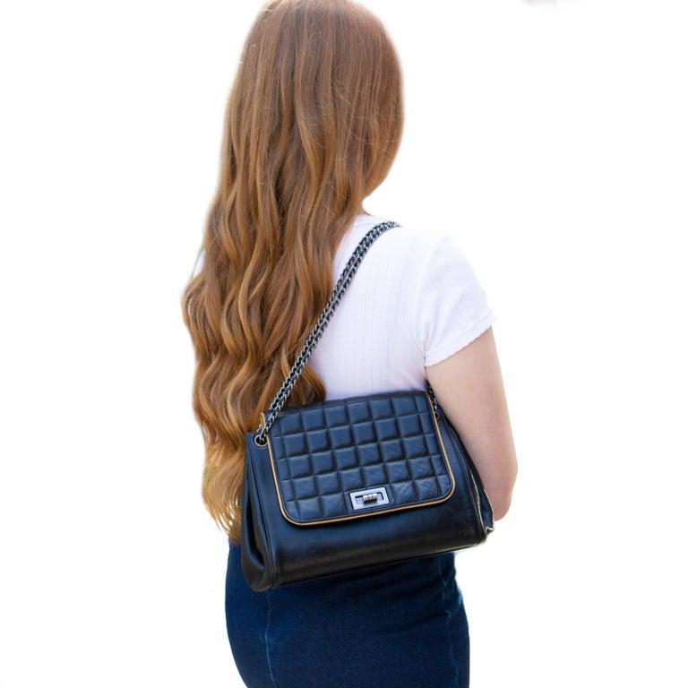 Black Vintage Leather Chanel Shoulder Bag