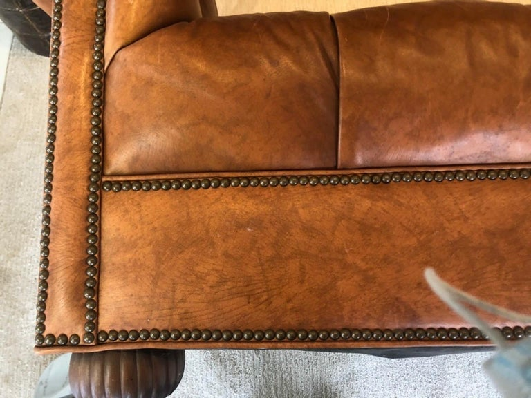 Vintage Leather Chesterfield For Sale 5
