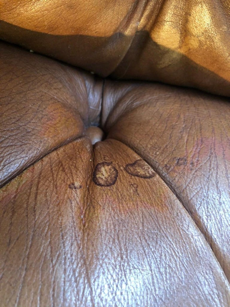 Vintage Leather Chesterfield For Sale 6