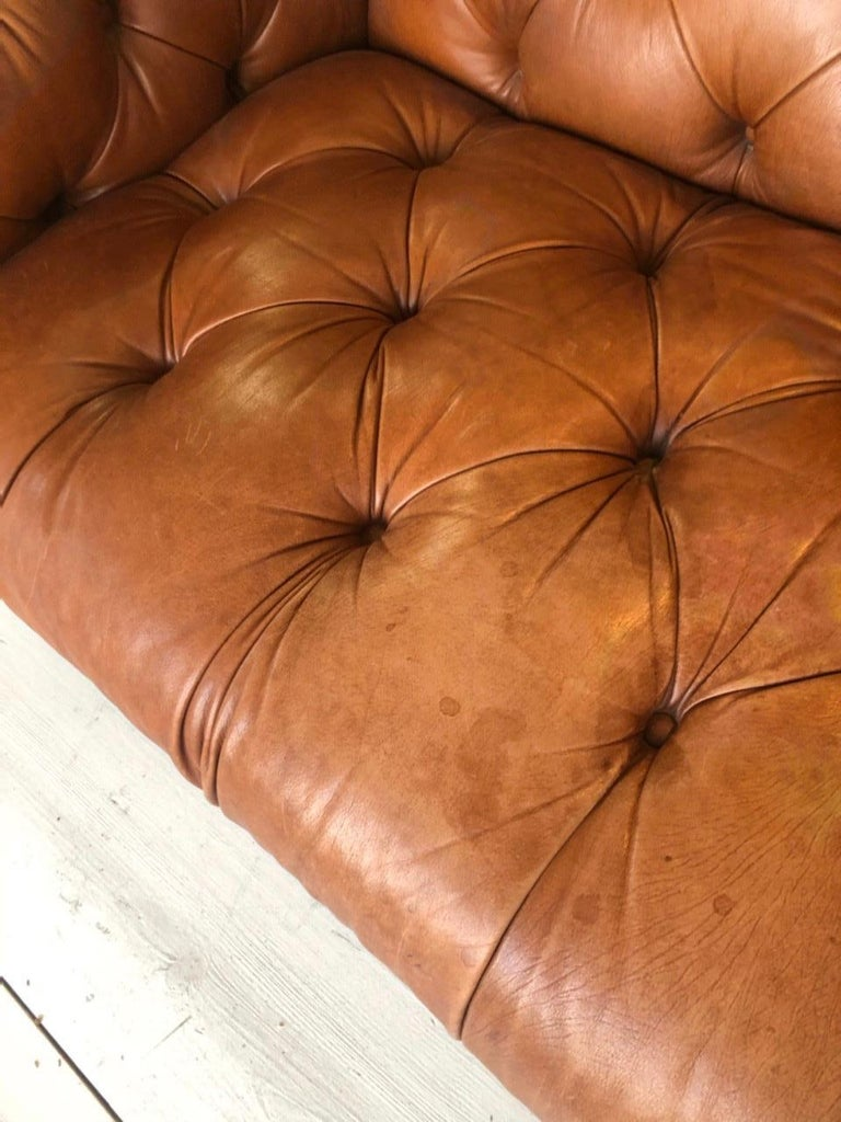 Vintage Leather Chesterfield For Sale 7