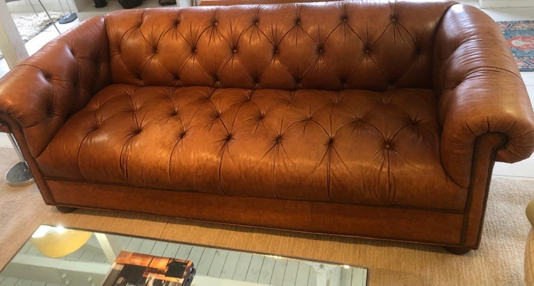 Unknown Vintage Leather Chesterfield For Sale