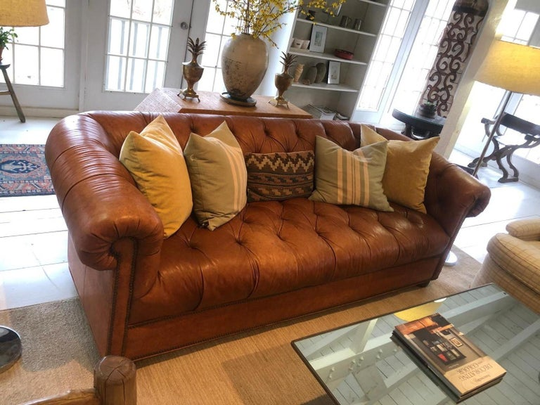 Vintage Leather Chesterfield For Sale 1