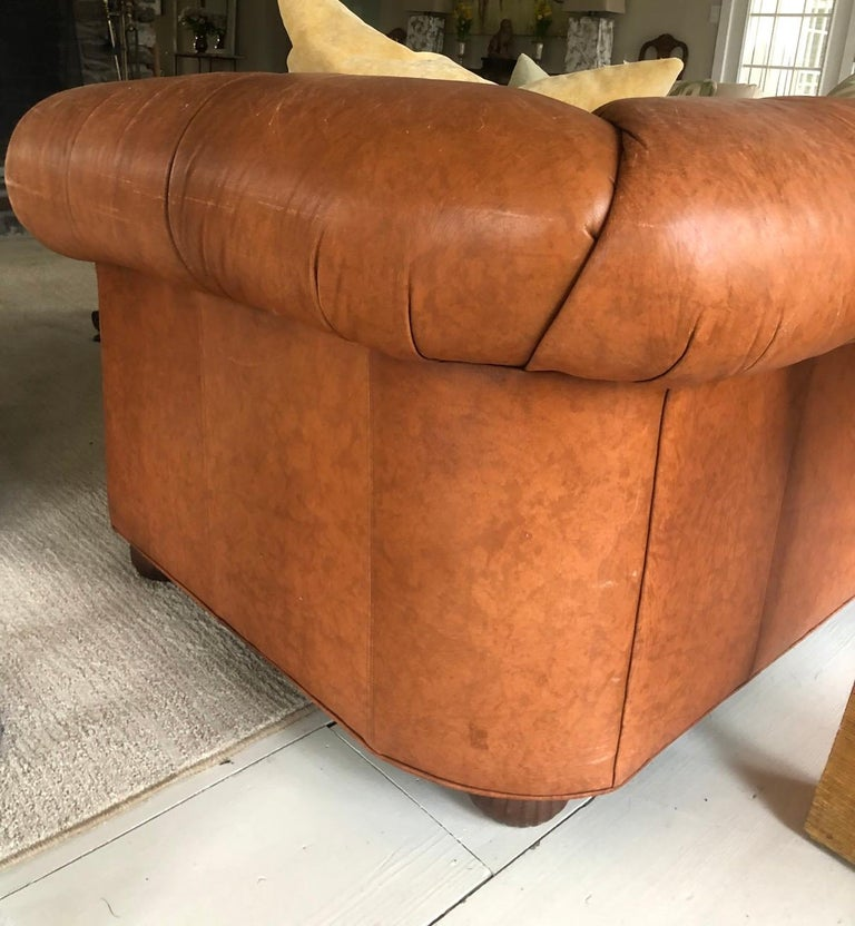 Vintage Leather Chesterfield For Sale 2