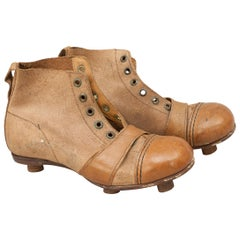 Vintage Leather Childs Football Boots, Rare