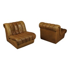 Vintage Leather De Sede DS 85 Lounge Chairs, Switzerland, 1960s
