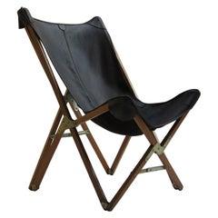 Vintage Leather Folding Hardoy Butterfly Chair Princes Design Works