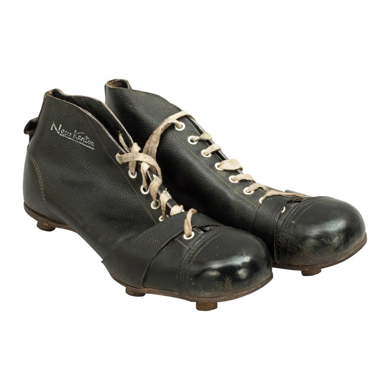 ffd03516c1e Vintage Leather Football Boots, New Kenton Black Football Boots For Sale