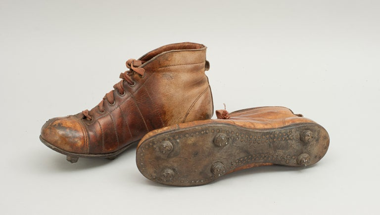 Sporting Art Vintage Leather Football Boots or Rugby Boots