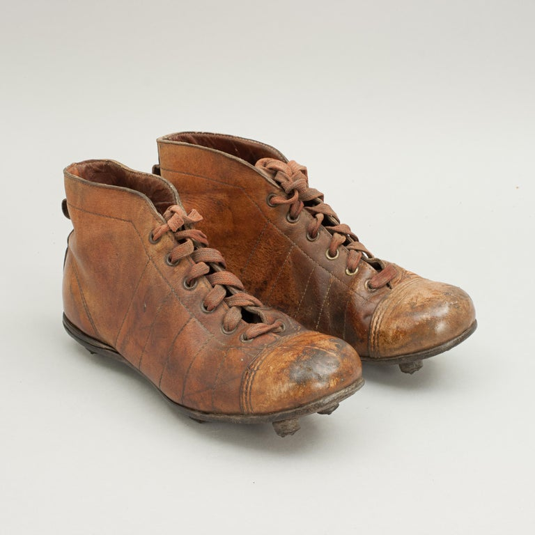 Vintage Leather Football Boots or Rugby Boots 1