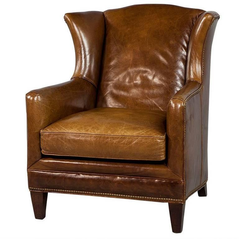 Vintage Leather Gentleman's Wing Chair