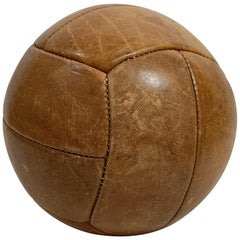 Vintage Leather Gym Ball by Gala, 1930s