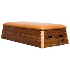 Vintage Leather Gymnastic  Bench