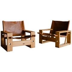 Vintage Leather Lounge Chair by Ate Van Apeldoorn, Netherlands, 1970s