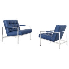 Vintage Leather Lounge Chairs by Milo Baughman for Thayer Coggin