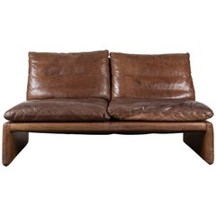 Vintage Leather Loveseat by COR Germany