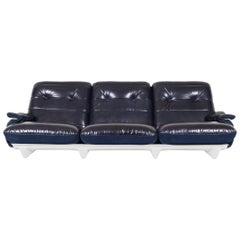 "Vintage Leather ""Marsala"" Sofa by Michel Ducaroy for Ligne Roset"