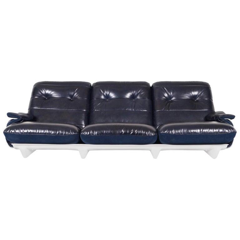 """Vintage Leather """"Marsala"""" Sofa by Michel Ducaroy for Ligne Roset For Sale"""