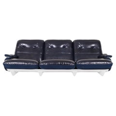 """Vintage Leather """"Marsala"""" Sofa by Michel Ducaroy for Ligne Roset"""