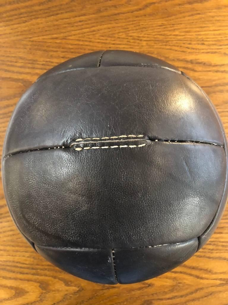 20th Century Vintage Leather Medicine Ball, 1940s For Sale