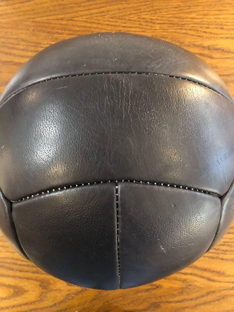 Vintage Leather Medicine Ball, 1940s For Sale 1