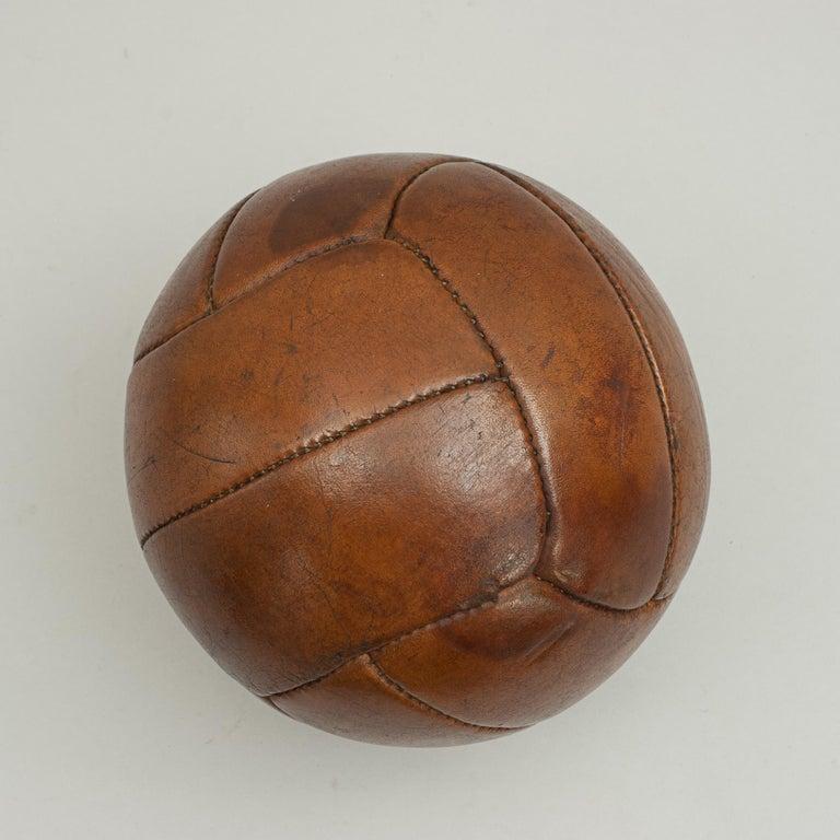 British Vintage Leather Medicine Ball For Sale