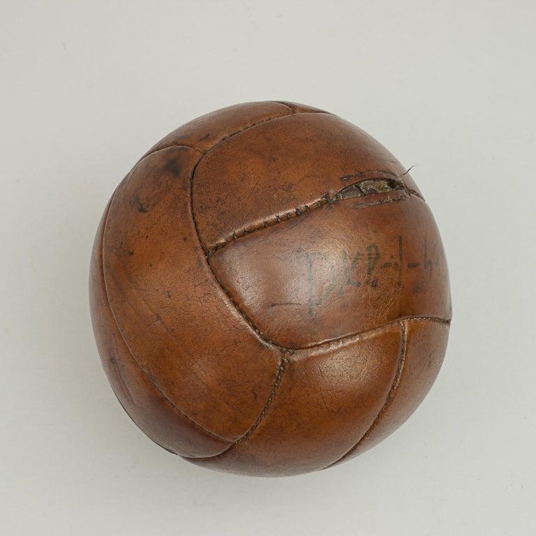 Vintage Leather Medicine Ball For Sale 1