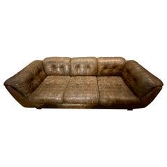 Vintage Leather Patchwork Sofa
