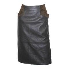 Vintage Leather Skirt by Robert Mariotti