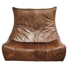 Vintage Leather Sofa 'the Rock' by Gerard Van Den Berg for Montis, 1970s